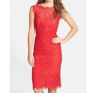 Tadashi Shoji | Red Lace Dress